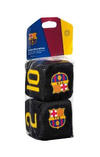 Preisvergleich Produktbild Sumex FCB0605 Plüschwürfel FC Barcelona, 6 x 6 cm , Schwarz