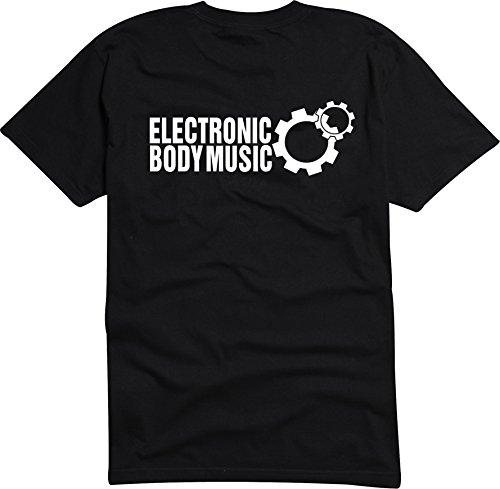 Black Dragon - T-Shirt Herren - JDM / Die cut - Elektronic Body Music - EBM Zahnrad Schwarz