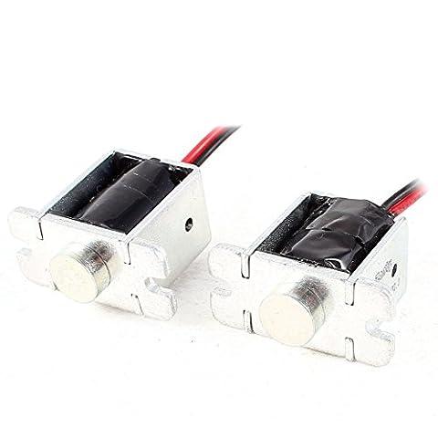 Dual 12V 62.6W Open Frame Solenoid Electromagnet 1mm 300g 5mm 150g