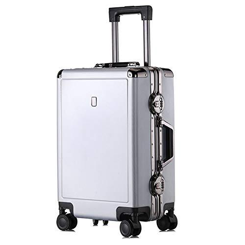 Hardside Business Cases (XDD Koffer Gepäck Hand Cabin Case, Business Aluminium-Rahmen Trolley, PC-Koffer Passwortsperre, Universal-Rad BoardingThe Chassis,C,20inches)