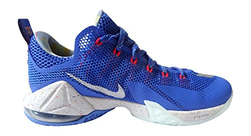 NIKE LeBron XII Basse lmtd Homme Baskets basket-ball 812560 Sneakers Chaussures - hyper cobalt metallic silver light crimson 406