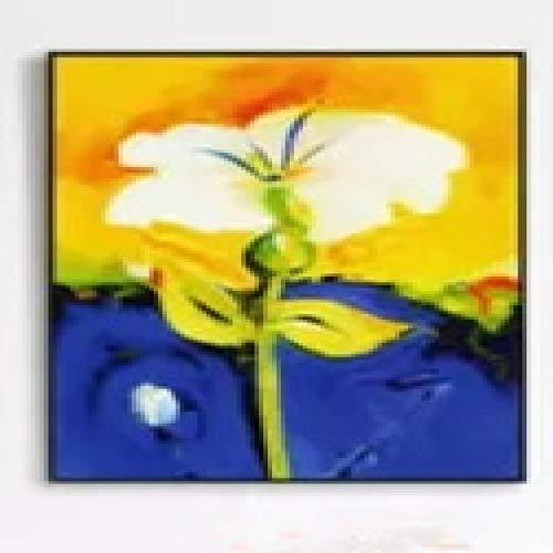 RTCKF Moderno e Minimalista Pittura a Olio Fiore Acquerello Camera da Letto ospite Pittura murale Pittura Decorativa Soggiorno Pittura Nucleo Senza Cornice B4 60cmx80cm