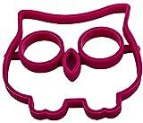 Silikonform für Spiegeleier im Eulen-Design, detailreiche Owl-Shaper, Egg, Frühstücken, Kindergeburtstag, Backform, Pancake, Brunch, Breakfast, Rühr-Ei, Brat-Pfanne, Form, Kochen Farbe: Magenta