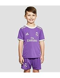 adidas Real Madrid Cf 2015/16 A Mini - Mini conjunto jugador para niños de 3-4 años, color violeta / blanco