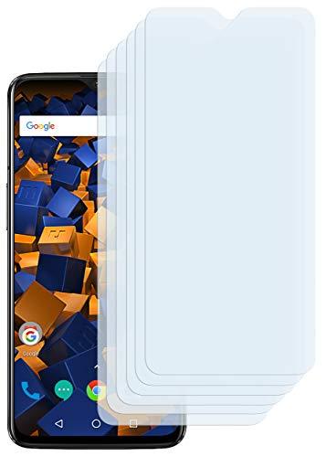 mumbi Schutzfolie kompatibel mit OnePlus 6T Folie klar, Bildschirmschutzfolie (6x)