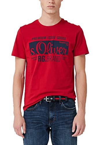 s.Oliver Herren 03.899.32.5206 T-Shirt, Rot (Uniform Red 3660), Large (Herstellergröße: L)