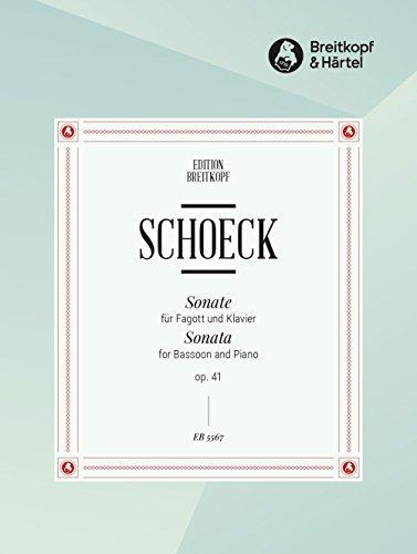 Preisvergleich Produktbild Sonate op. 41 - Ausgabe für Fagott und Klavier (EB 5567)