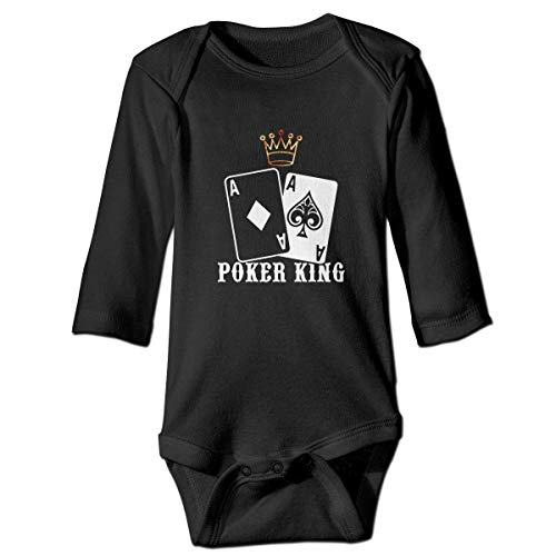 WBinHua Bodysuits Baby Body, Poker King Baby Newborn Long Sleeve Onesies Bodysuits (Poker Duschvorhang)