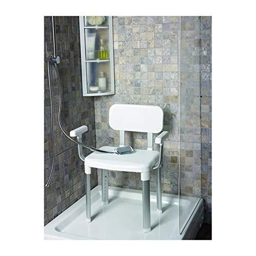 Weinberger 43907 Dusch- und Badestuhl mit Rückenlehne und Armlehnen