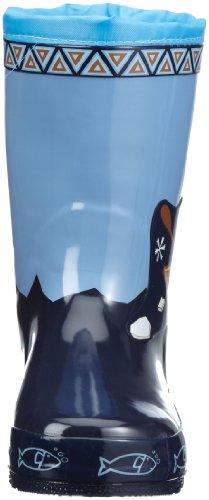 Playshoes Gummistiefel ESKIMO 189395, Bottes de pluie mixte enfant Bleu-TR-H4-170