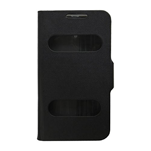 Acm Caller Id Case For Karbonn Smart A111 Mobile Table Talk Flip Cover Stand-Black  available at amazon for Rs.329