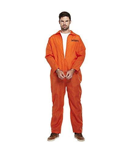 Costume de prisonnier - menottes incluses - orang