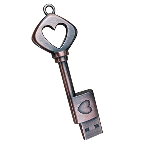 USB-Stick, Hui. Hui USB Pen Drive Metall reines Kupfer Herz USB Flash Drive USB Schlüssel 4GB/8GB/16GB siehe abbildung 16 GB (Pen-treiber 32 Gb)