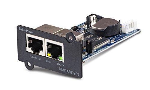 CYBERPOWER RMCARD205 Netzwerkkarte Fuer SNMP Slot - Kompatibel zu OR und PR Serie, Zwei Anschluesse: Netzwerk und Environment Senso - Cyberpower Pcs