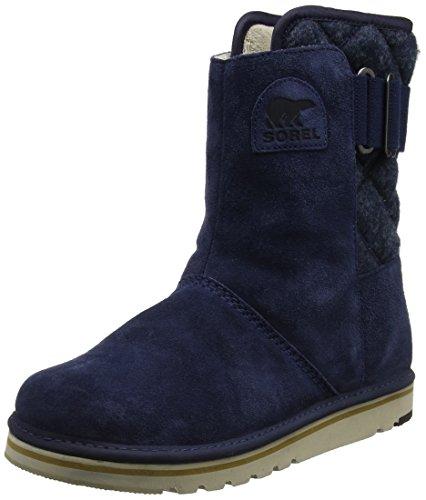 Sorel Damen Newbie Kurzschaft Schlupfstiefel, Blau (Collegiate Navy/Fossil), EU 39 1/2 (Boots Blau)
