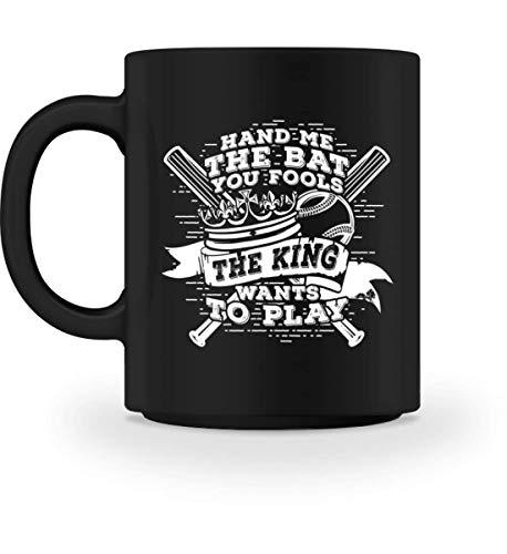 Baseball: The king wants to play - Gift Baseball Player Fan Coach End of Season - Tasse