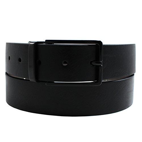 Alfani Men's Bonded Leather Reversible Dress Belt, Black/Grey, 40/100 (Mens Dress Alfani)