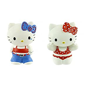 Juratoys - B53403 - Figurita - Hello Kitty - caja de regalo - colegiala Hello Kitty Hello Kitty y bikini (Importado de Francia)