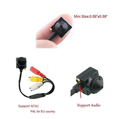 Podofo Mini Sicherheit versteckte Kamera 600 TVL Spion Kamera Mini Pinhole Kamera mit Mikrofon Unterstützung Audio PAL für die Überwachung