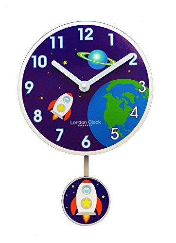 Rocket Horloge murale avec pendule pour enfant