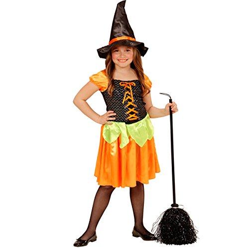 Hexe Kostüm Kinder Kleid Sequin Kürbis Spinne Hexen Halloween Witch Vampire (158) (Halloween Hexe Für Songs)