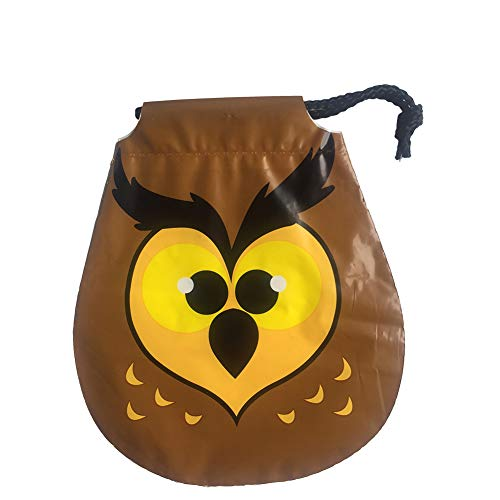 Joyfeel buy 6 Stück Halloween Tasche Kinder Braun Eule Muster Geschenkbeutel Süßigkeitstasche Kordelzug für Kostüm Party