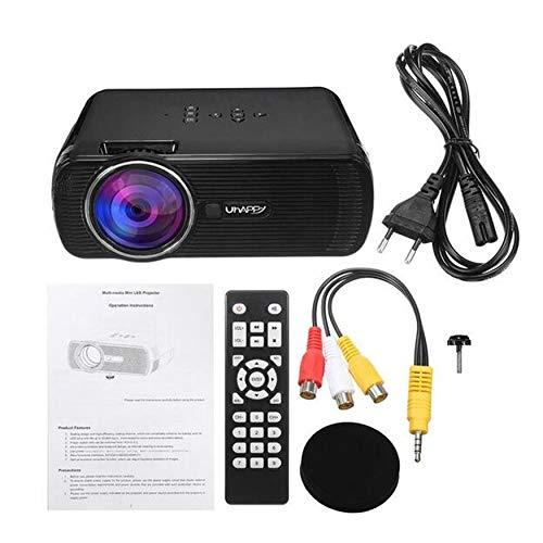 Yao U80 7000 LM Digitalprojektor Tragbarer HD 1080P LED-Projektor Mini Multimedia (7000 Projektor)