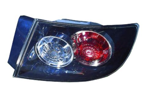 Mazda 3 Sedan Replacement Tail Light Assembly (Standard Type, Outer) - Passenger Side by