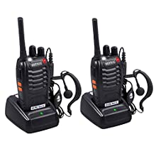 Nota:NON si possono usare con i walkie di altri marchi sul mercato!   Panoramica:Queste Due Radio possono collegare tra di loro nella regione isolata o campo salvatico, dove il segnale del cellulare è debole o povero. Potete trovare il partner nel...
