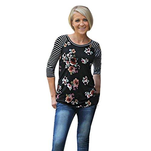 kolylong-frauen-t-shirt-frauen-striped-und-gedrucktes-t-shirt-frauen-floral-striped-splice-rundhalsa