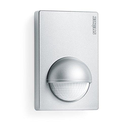 Steinel Bewegunsmelder IS 180-2 silber, 180° Infrarot Bewegungssensor, Dämmerungssensor für Innen- und Außenbereich -