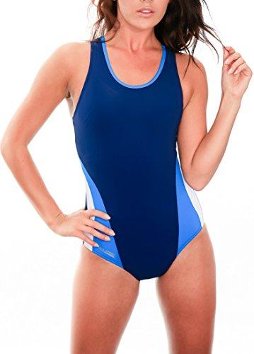 AquaSpeed® TRINITY Badeanzug Racerback-Kostüm, Badeanzüge:blau/hellblau/weiß;Größen Badeanzüge:36