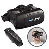 VR Eye VR 3D Occhiali per Realtà virtuale Headset + Controller Bluetooth per dispositivi Android