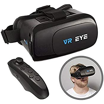 a0d7f098c78 VR Eye® VR 3D Virtual Reality Glasses Headset + Bluetooth Controller for  Android devices