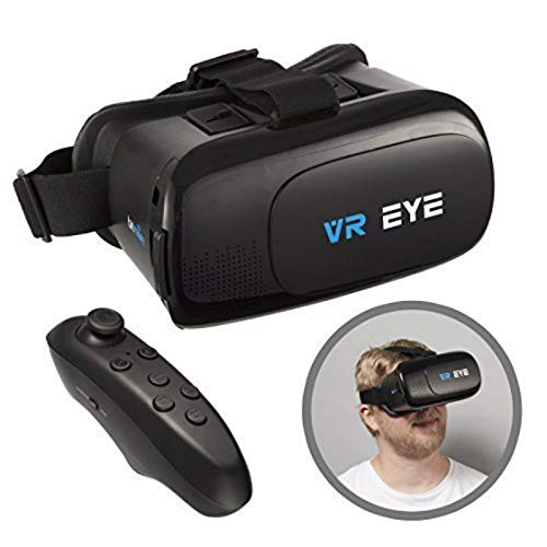 VR Eye® VR 3D Virtual Reality Brille, Headset + Bluetooth Controller für Android-Geräte