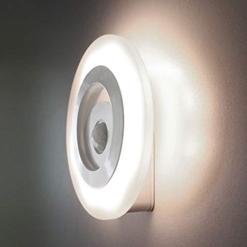 Luz Nocturna Lámpara de Sensor de Movimiento con Auto Encendido/Apagado, Luz de Noche para Armario, Pasillo, Escalera, Garaje, Cocina y Habitación