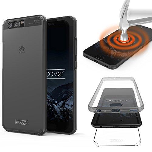 Urcover Touch Case 2.0 kompatibel mit Huawei P10 [Upgrade] 360 Grad Rundum-Schutz Cover [Unbreakable Case bekannt aus Galileo] Crystal Clear Full Body Schale Handy-Hülle Transparent