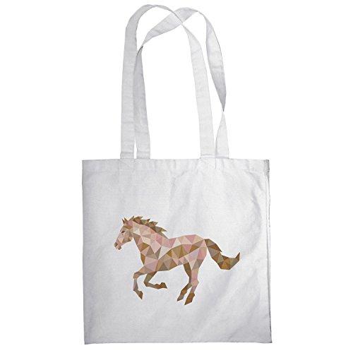 Texlab–Poly Horse–sacchetto di stoffa Bianco