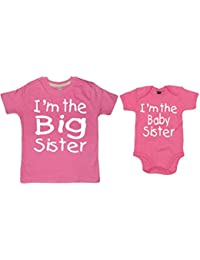 Edward Sinclair I'm The Big Sister & I'm The Baby Sister T-Shirt & Bodysuit Set
