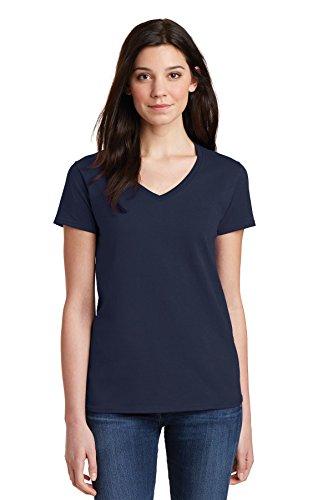 Gildan Ladies Heavy Cotton ™ 100% Cotton V-Neck T-Shirt. 5V00L