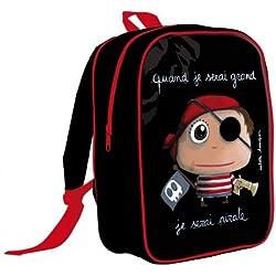 """Mochila escolar """"Cuando sea mayor seré un pirata"""""""