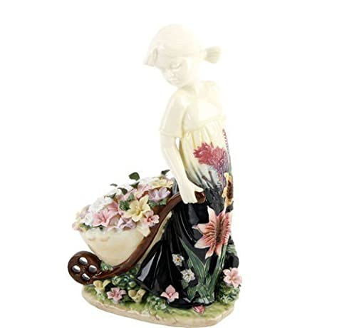 Old Tupton Ware - Summer Bouquet Design. Elaine - Girl with flower barrel by Old Tupton Ware