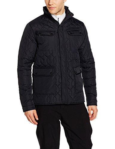 Geographical Norway Herren Biturbo Jacke Steppjacke Winterjacke  Sportjacke Schwarz (Black)