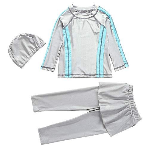Xingsiyue 3 Stücke Burkini für Muslimische - Mama und Tochter Badebekleidung Modest Islamisch Dubai Badeanzug UPF 50+ Schnelltrocknende Schwimmen Kostüm Beachwear (Baby Kostüm Dubai)