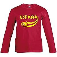 Supportershop – Camiseta de fútbol de España para niño, T-Shirt Espagne Rouge L