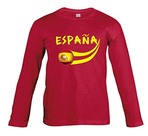 Supportershop Boys Spain Long Sleeve Fan T-Shirt Red 6 Years