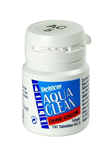 Aqua-tabletten (YACHTICON Aqua Clean AC 5 ohne Chlor 100 Tabletten)