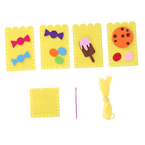 SUPVOX Schreibtisch Bleistift Organizer Kinder Stifteköcher Filz Stifthalter für Kinder DIY mit Sicherheit Nadelfaden (Gelb)