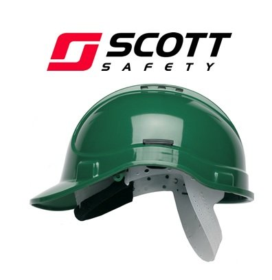 Scott Safety HC300/VG/SBT Helmet with Terry SB, Vented, Green