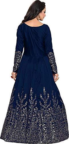 e12cc197b4 77% OFF on Mashur Fab Women s Taffeta Silk Anarkali fully embroidery Gown  (Free Size  semi stitched) on Amazon